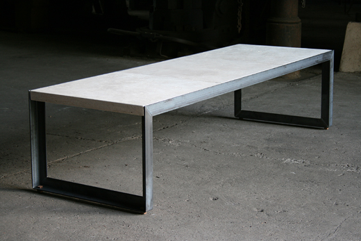 esstisch beton stahl